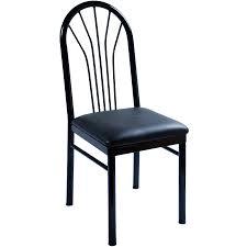 fanback metal restaurant chair
