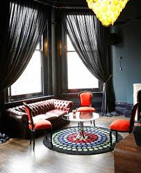 Red And Black Furniture For Living Room by Best 25 Black Curtains Ideas Only On Pinterest Black Curtains