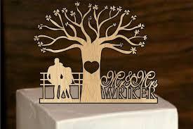 monogram tree topper rustic wedding cake topper personalized wedding cake topper