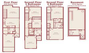 floor modern townhouse floor plans