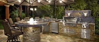 modern outdoor kitchen exteriors modern outdoor kitchen decor with round laminated