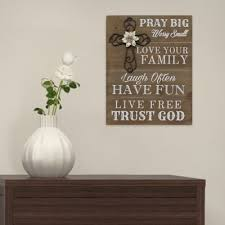 stratton home decor pray big wood wall wood signs