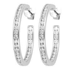 hoop diamond earrings 1 62ct f i1 channel set diamond hoop earrings