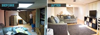 well suited design finished basement before and after modern