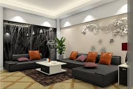living room black sofa and rugs 3d house