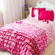 Ruffled Bed Set Pink Ruffle Bedding Ideas Lostcoastshuttle Bedding Set
