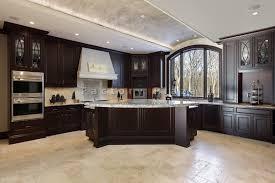 Kitchen Dark Cabinets Light Granite Dark Kitchen Cabinets With Light Granite Top Dark Kitchen