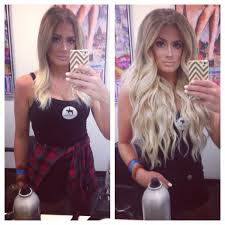 Dirty Hair Extensions by Bellami Hair Extensions Blonde Long Hair Beach Waves Flannel Ombré