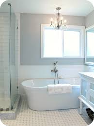 bathroom fascinating retro white bathtub with classy pendant lamp