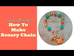 how to make a rosary how to make beaded rosary chain