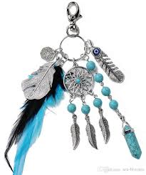 crystal key rings images Dreamcatcher crystal key chain feather gossip stone keychain bead jpg
