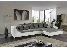 canapé d angle blanc et gris canapé d angle montego tissu similicuir blanc gris weba meubles