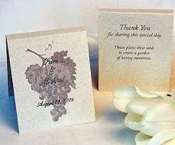 flower seed wedding favors personalized grape design plant a garden seed favors