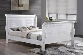 Cheap Sleigh Bed Frames Brilliant Birlea Chateaux White Wooden Sleigh Bed Frame Beds