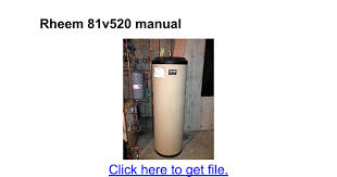 wiring diagram rheem water heaters model 81v52d solar thermal