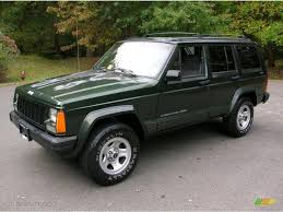 moss green pearl 1996 jeep cherokee classic 4x4 exterior photo