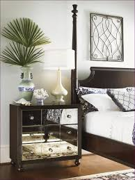bedroom awesome mirror covered dresser black glass nightstand