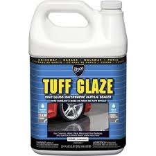Concrete Patio Sealer Reviews by Dyco Tuff Glaze 1 Gal C22w Clear High Gloss Waterborne Acrylic