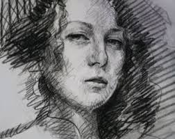 charcoal portrait charcoal sketch from photo fine art custom
