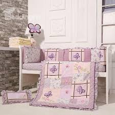 Lavender Butterfly Crib Bedding Purple Butterflies 8 Cotton Baby Crib Bedding Set
