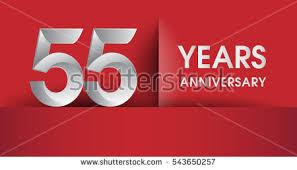 new years or birthday party invitation stock image 55 years anniversary celebration logo flat stock vector 563890951