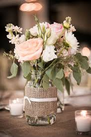 jar flower centerpieces jar flower arrangements in blush pink pinteres