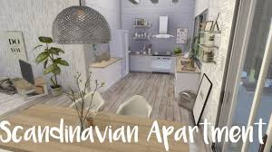 scandinavian apartment the sims 4 speed build scandinavian apartment cc list youtube