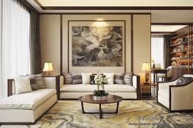 beautiful apartment interior design with chinese style modern