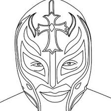 rey mysterio mask coloring pages funycoloring