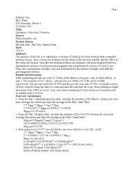 lab report official 10812 mole unit titration
