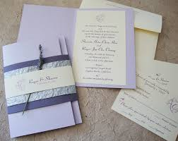 lavender wedding invitations custom wedding invitation lavender booklet suite papercake designs