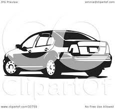volkswagen jetta white clipart illustration of a volkswagen jetta car in black and white