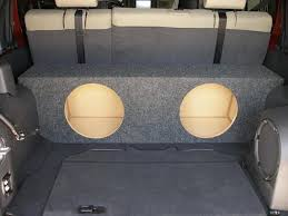 jeep wrangler speaker box custom subwoofer enclosure i bought on ebay