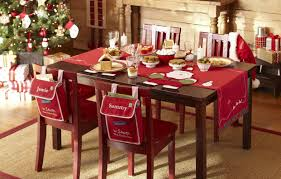 table a decorated christmas dining table christmas table decor