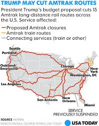 amtrak map usa amtrak s distance routes could get the ax