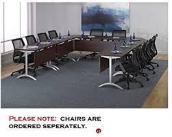 modular conference training tables amazon com qsp u shape modular training conference table office