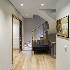 Modern Home Lighting Decorating Trendy Metallic Staircase Lighting Idea With Glass