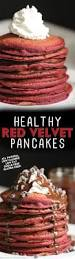 healthy red velvet pancakes high protein gluten free