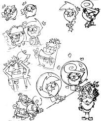 holiday coloring pages the fairly oddparents coloring pages