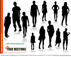 free silhouette images people silhouettes free vector