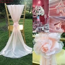 chiffon chair sash 2015 white blush pink chair sashes 3d flowers chiffon