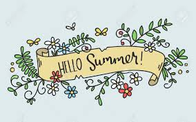 ribbon with words pretty banner with a ribbon with words hello summer