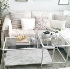 white living room decor ikea coffee table hack vittsjo nesting