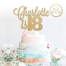 60 cake topper 18th name cake topper 18 topper custom personalised cake topper 16