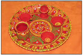 Decorations For Diwali At Home Diy How To Decorate Pooja Thali Puja Thali At Home In Hindi