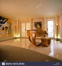 art deco piano in thirties music room stock photo royalty free