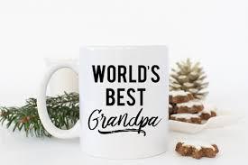 grandfather christmas gift worlds best grandpa mug christmas