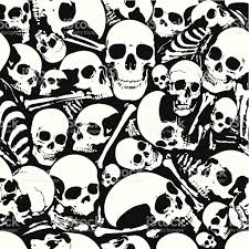 halloween background skulls seamless skull wallpaper background stock vector art 165673932