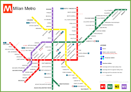 Green Line Metro Map by Milan Metro Map