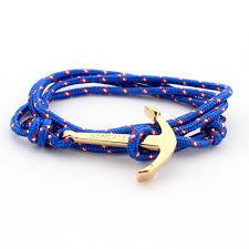 anchor wrap bracelet images 24k gold plated navy anchor hand woven wrap bracelet men women tom jpg